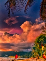 sunset Patong Beach clouds