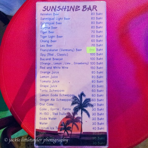 sunshine bar menu 2