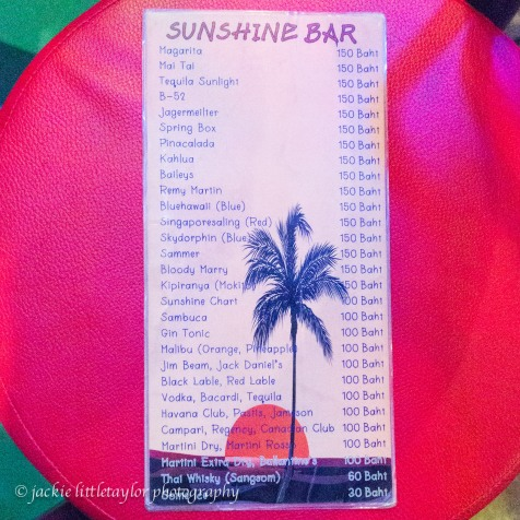 sunshine bar menu 1