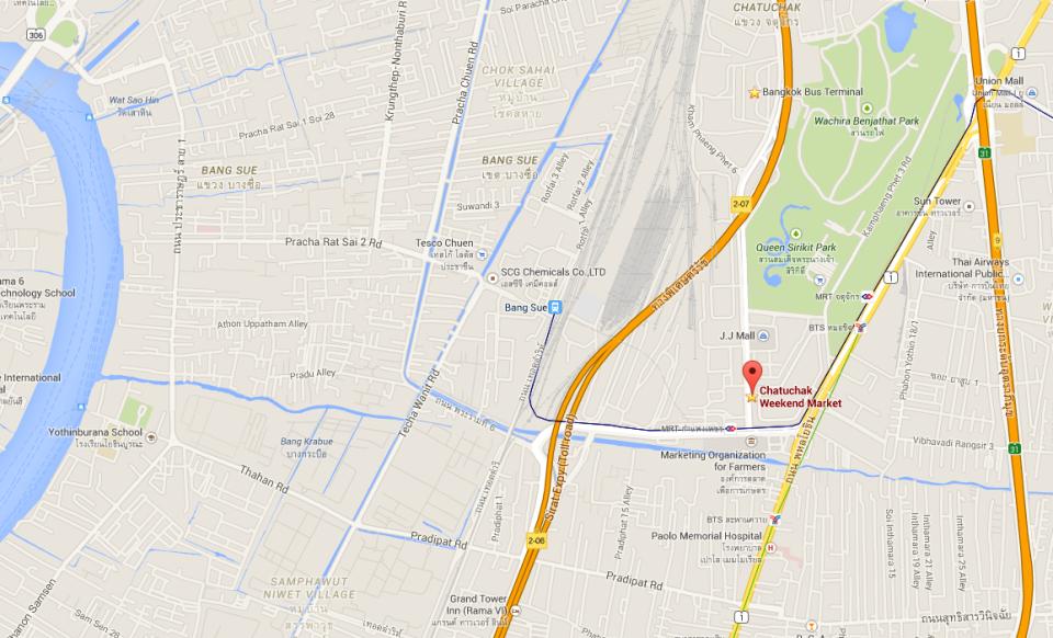 map to Market Bangkok