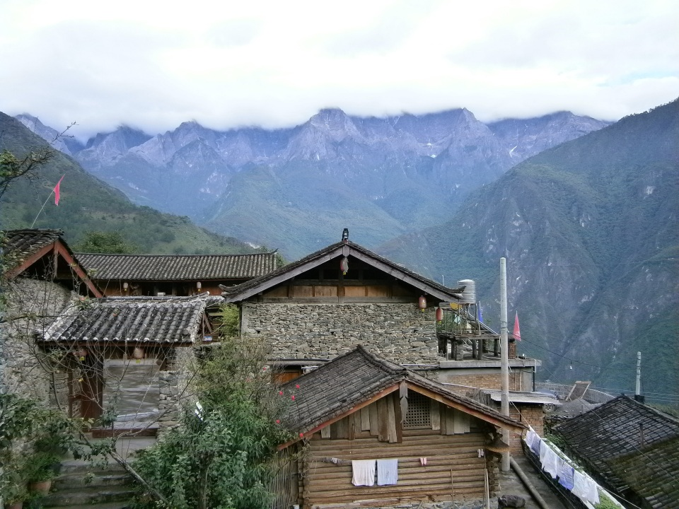 View From Naxi Guest House - Tiger Leaping Gorge - Yunnan Province, Southern China