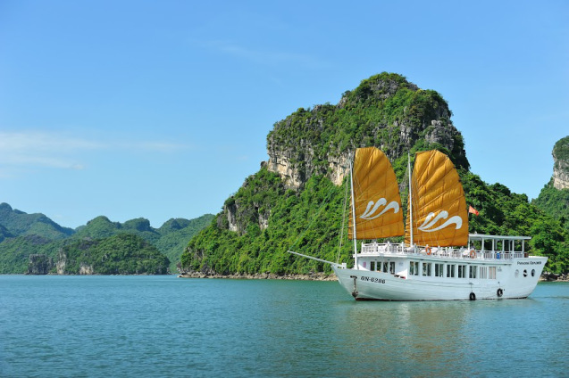 Our Paradise Explorer vessels go deep into the southern part of the Bay, around Cat Ba Island and Lan Ha Bay.