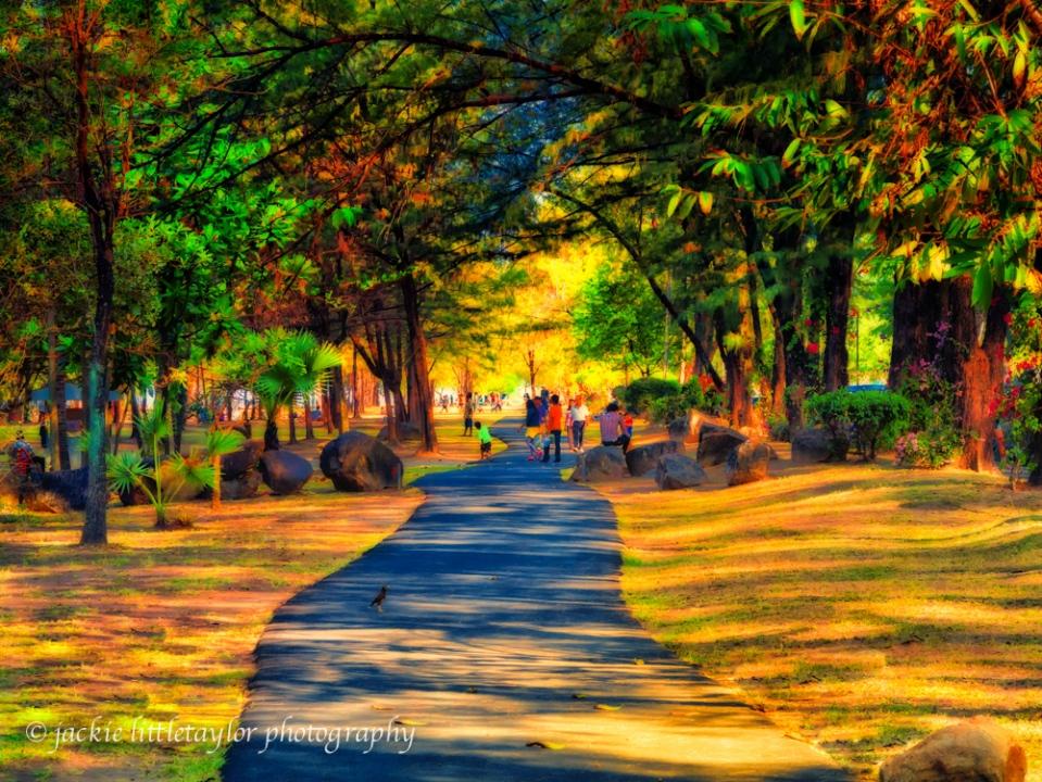 evening walks Saphin Hin Park impression