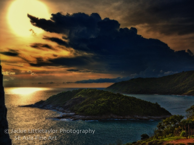 sunset Andaman Sea dark storm cloud Promthep