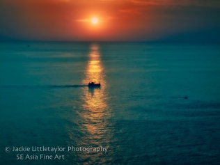 Trawler Andaman Sea sunset Pastel Promthep