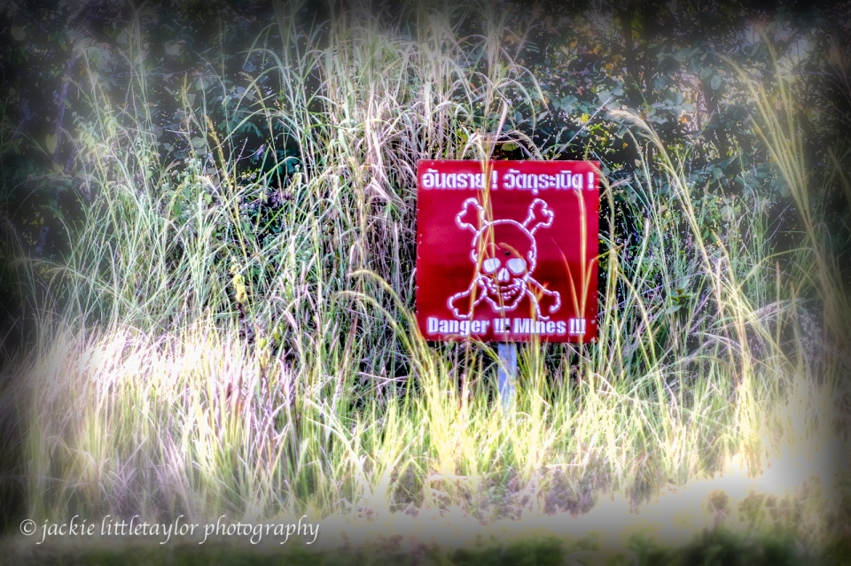 Land Mines Sign Preah Vihear