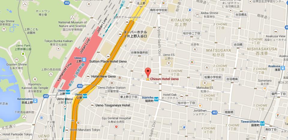 Map Chisun Hotel