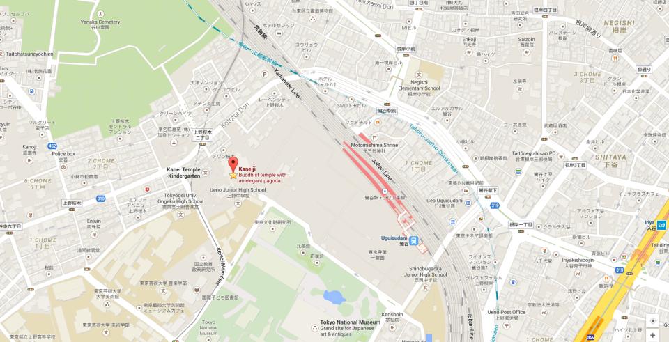 Kaneiji Temple Japan  Map