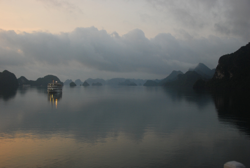 Halong Bay at twilight