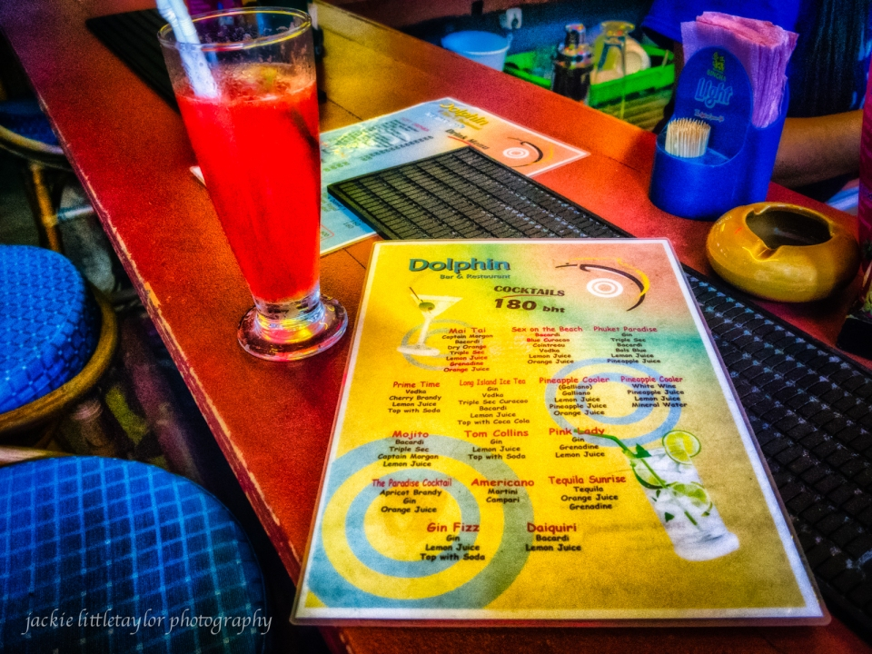 dolphin Bar drink menu Patong