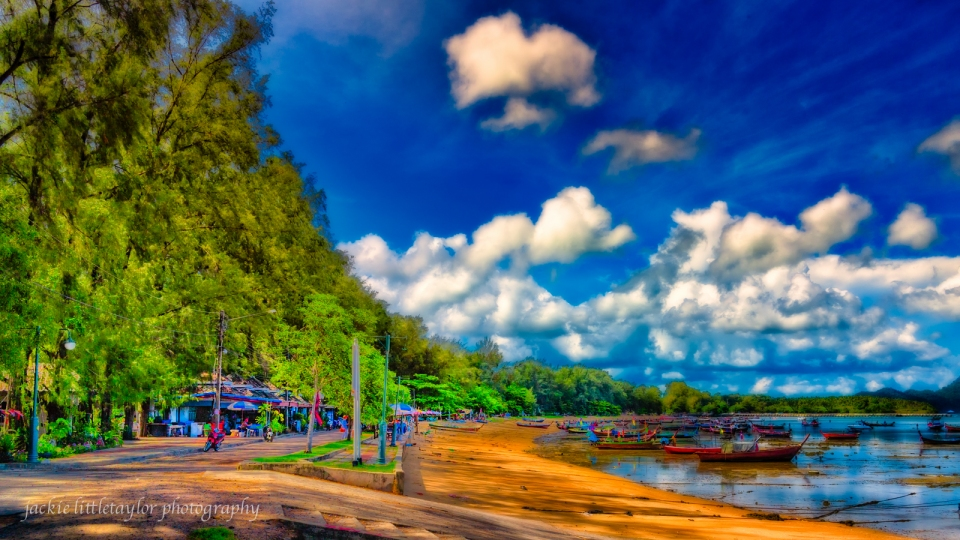 sea gypsy fishing village Rawai Phuket Long Tail boats
