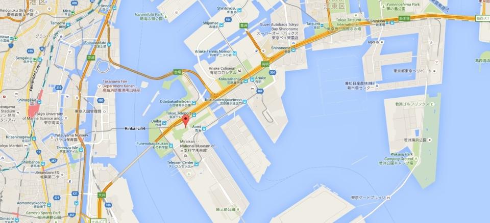 map Odaiba Tokyp