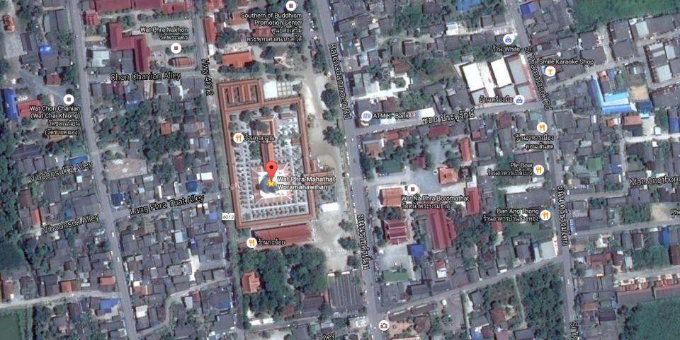 Wat Phra Mahathat Map