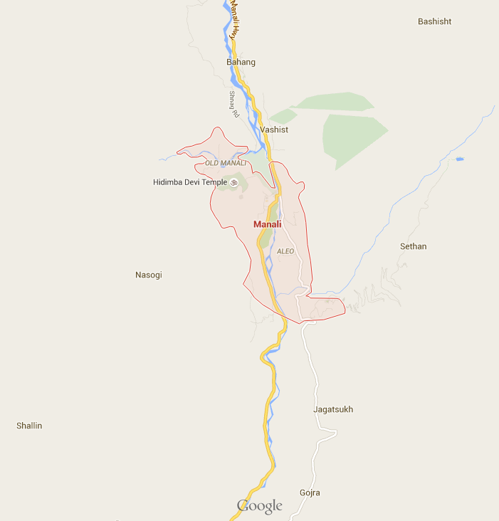 Map Manali