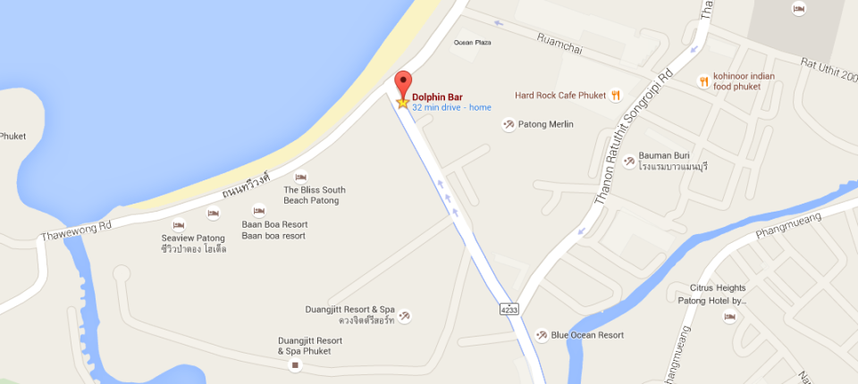 Map of the Dolphin Bar Patong