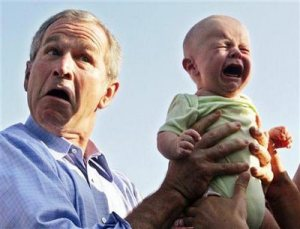 bush-holding-baby