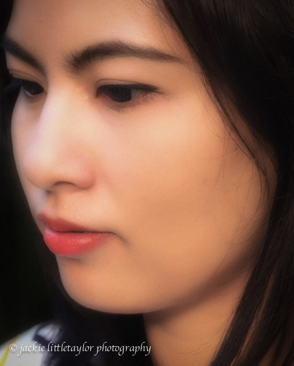soft pastel Lovely face Thailand closeup eyes