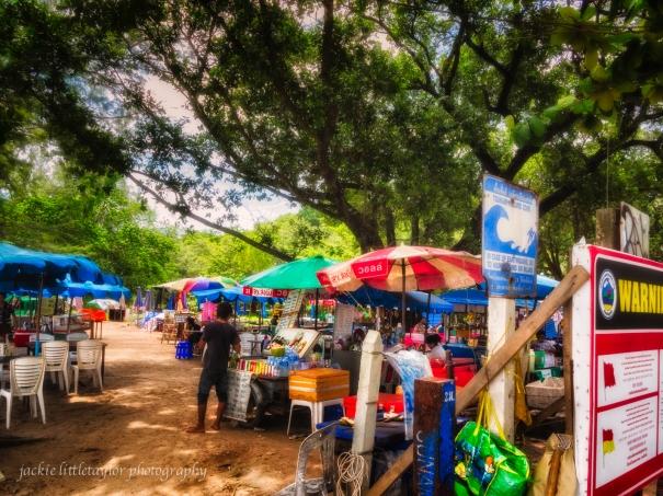 market at Kata beach