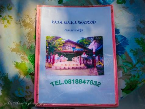 Menu Kata Mama Seafoof Kata Beach and phone #