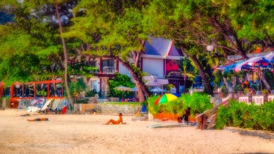 she sunbathing Kata Beach