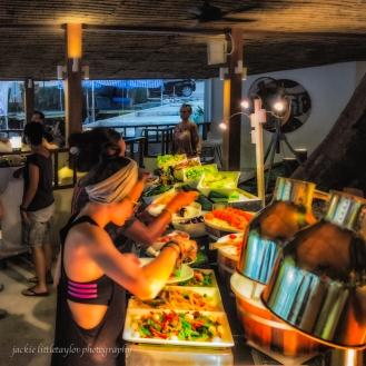 buffet at Bimi Beach