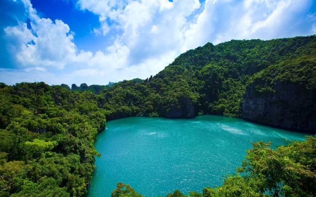 Emerald Lake,Thai Talay Nai, Blue Lagoon,Hollywood movie, The Beach,  Ang Thong National Marine Park, Mother Island, Mu Koh