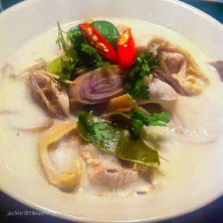 Thai Coconut Milk Soup with Chicken
