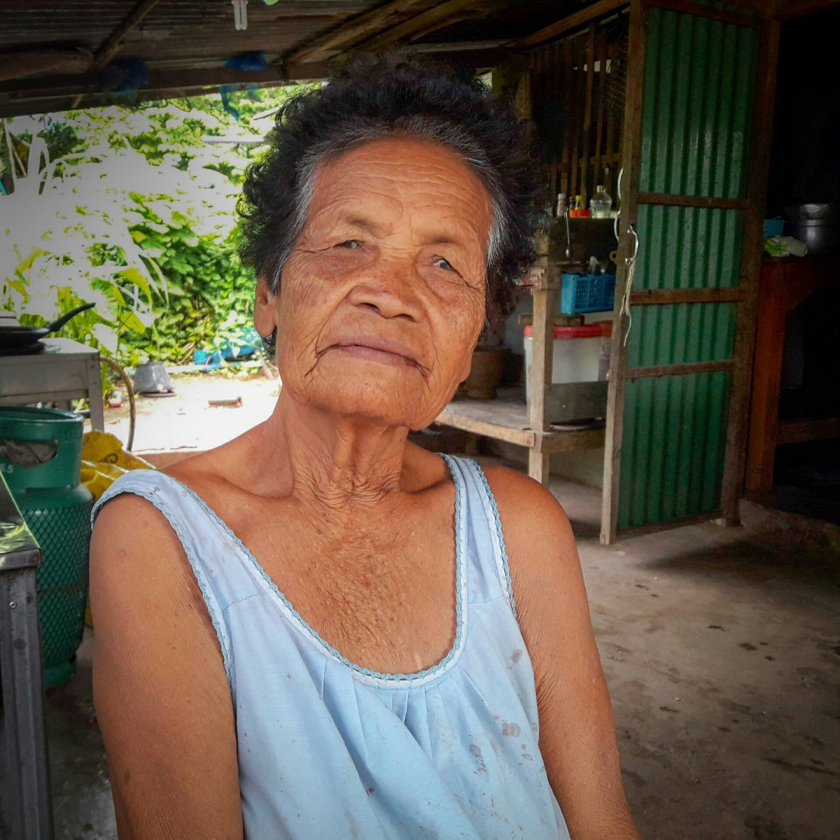 Kind grandmother Thai village photo of day